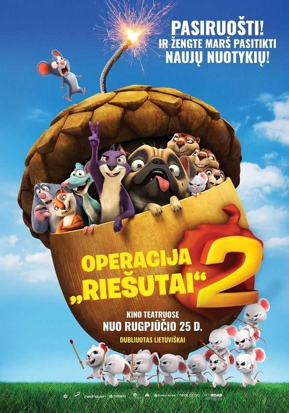 "Operacija ""Riešutai"" 2 / The Nut Job 2: Nutty by Nature (2017) žiūrėti online"