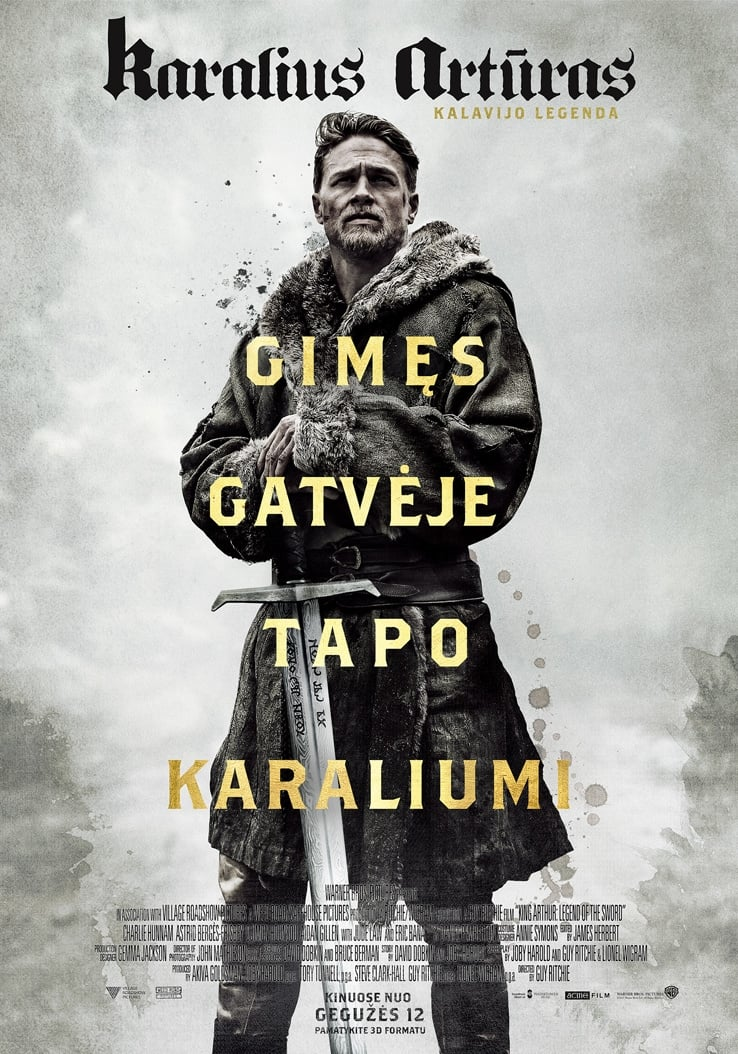 Karalius Artūras: Kalavijo legenda / King Arthur: Legend of the Sword (2017)