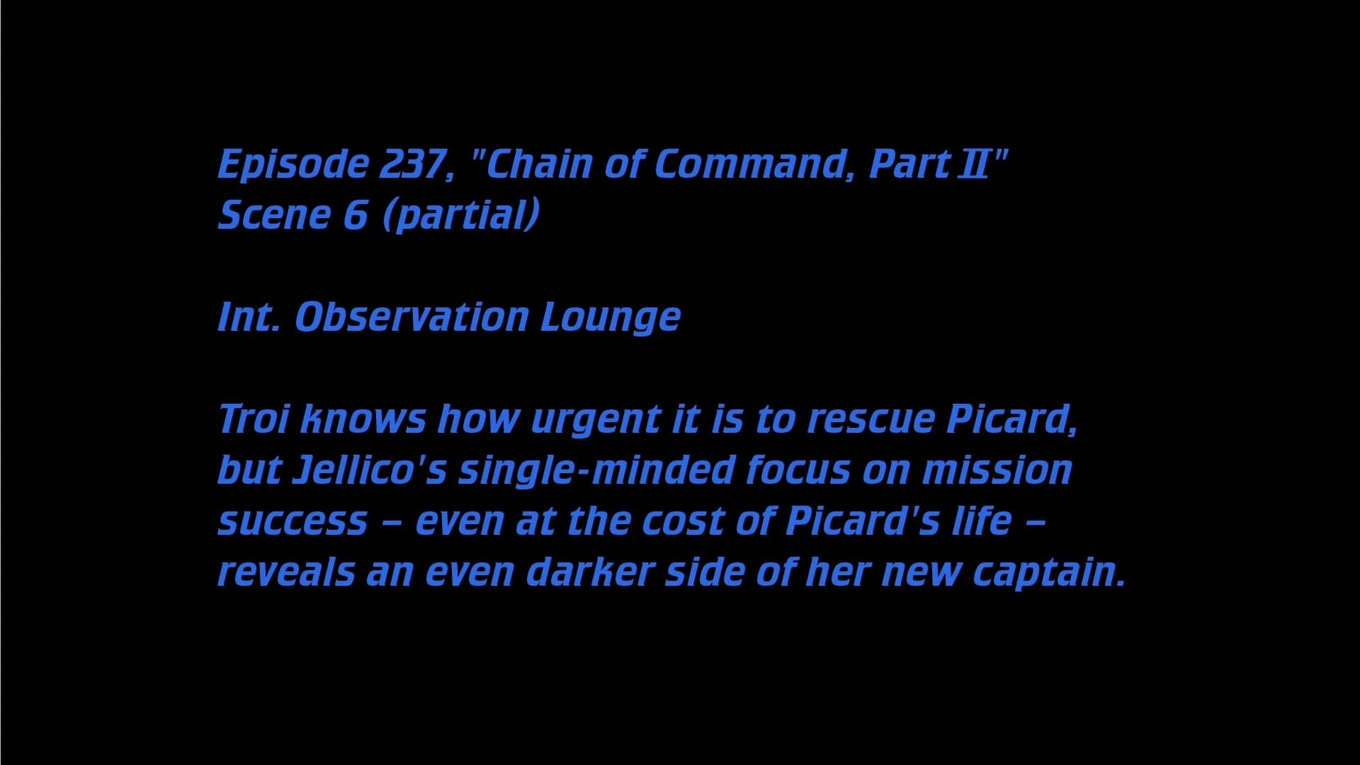 Deleted Scenes: S06E11 - Chain of Command (2)-Azwaad Movie Database