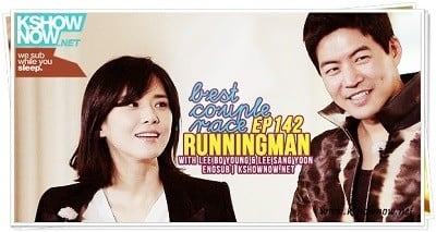 Running Man Season 1 :Episode 142  Best Couple Race