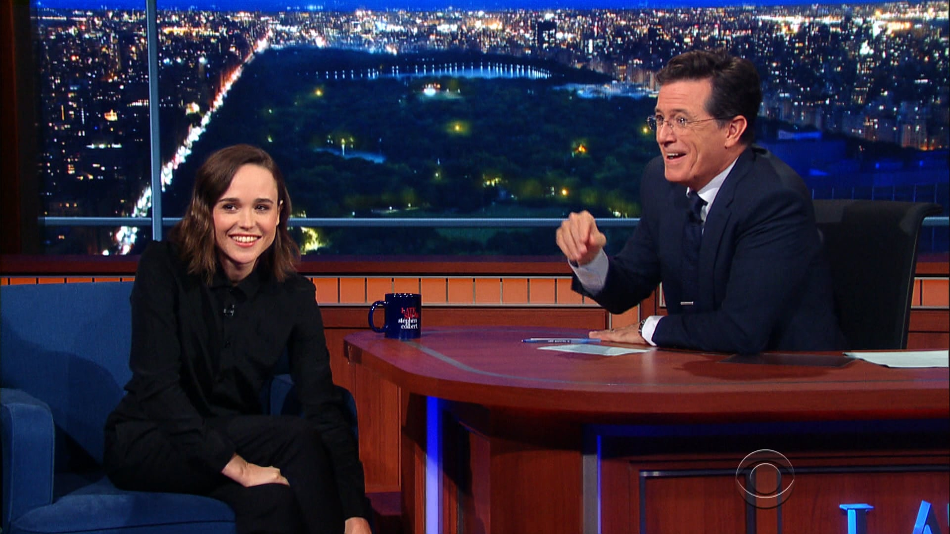 The Late Show with Stephen Colbert Season 1 :Episode 16  Ellen Page, Jesse Eisenberg, Dominic Wilcox