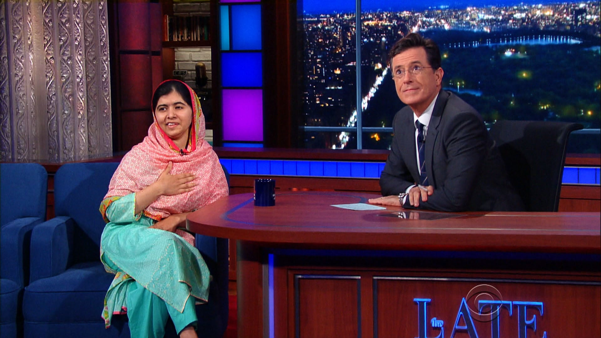 The Late Show with Stephen Colbert Season 1 :Episode 14  Malala Yousafzai, Kerry Washington, The Arcs