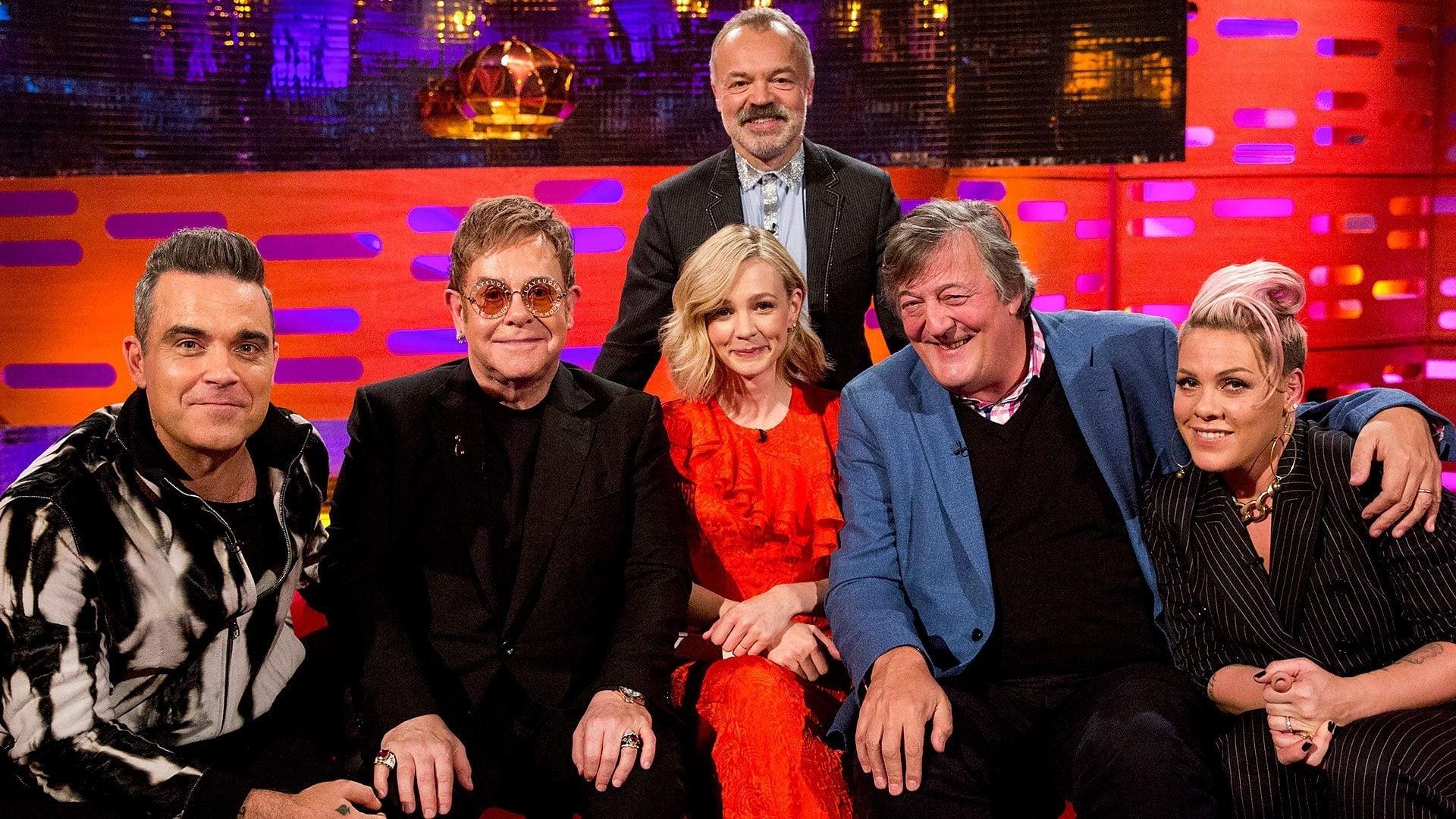 The Graham Norton Show Season 22 :Episode 9  Sir Elton John, Stephen Fry, Carey Mulligan, Robbie Williams, Pink