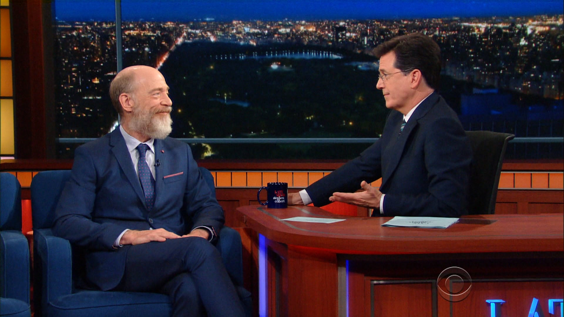 The Late Show with Stephen Colbert Season 1 :Episode 129  J.K. Simmons, Jane Krakowski, Chris Wallace