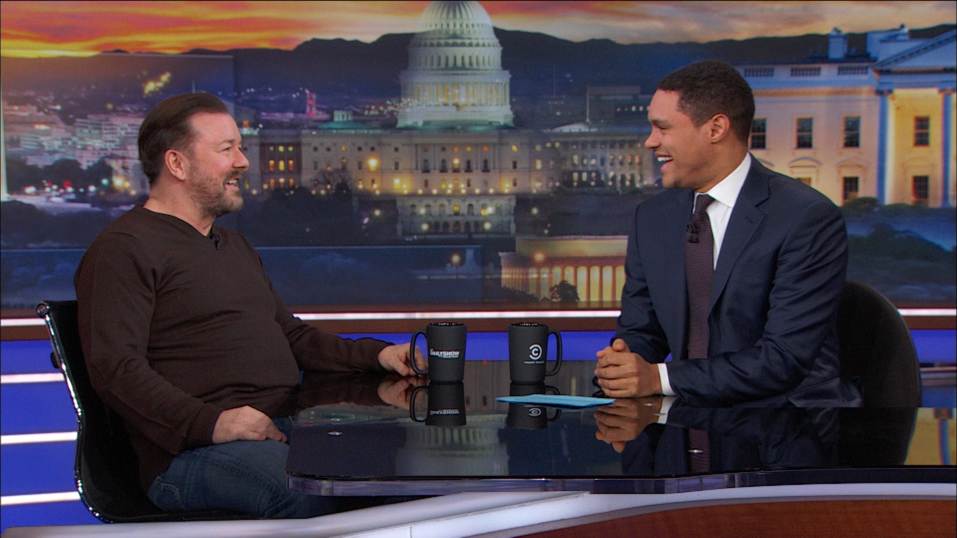 The Daily Show with Trevor Noah Season 23 :Episode 47  Ricky Gervais