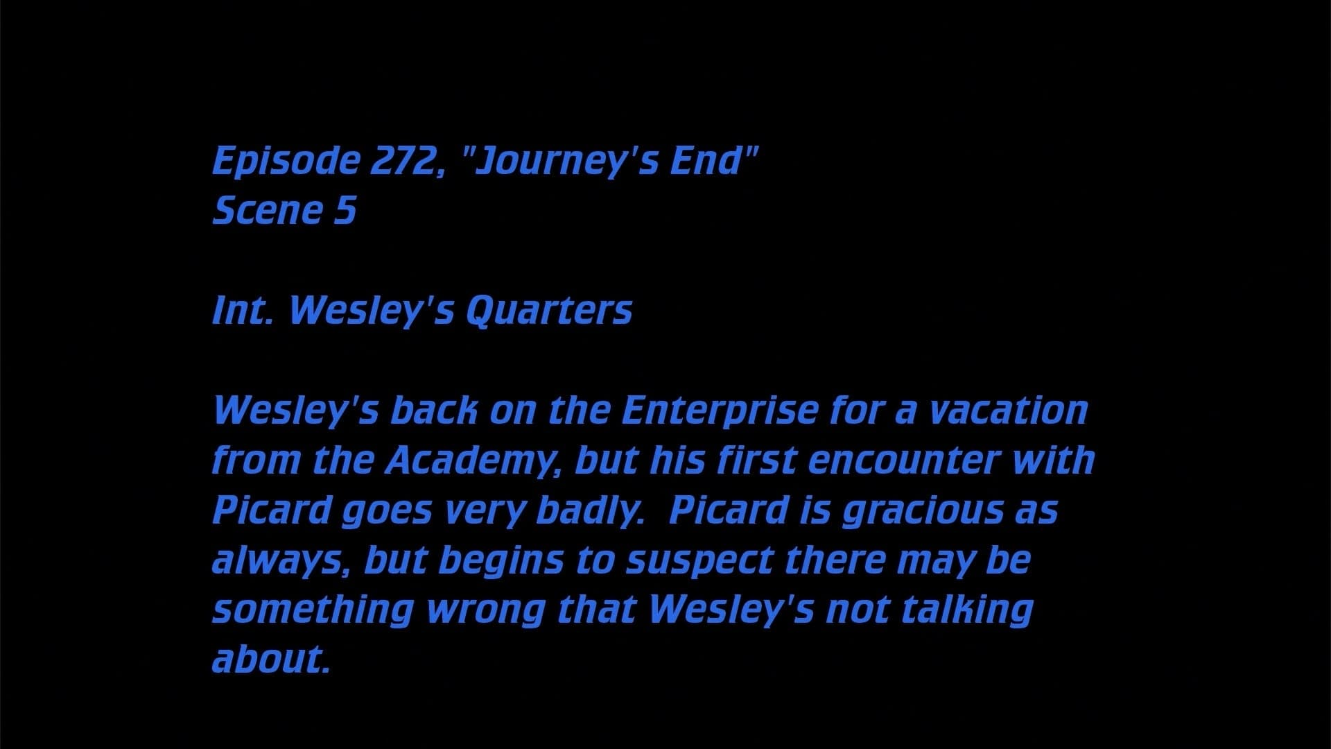 Deleted Scenes: S07E20 - Journey's End-Azwaad Movie Database