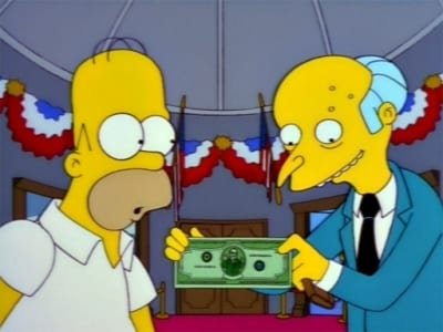The Simpsons Season 9 :Episode 20  The Trouble with Trillions