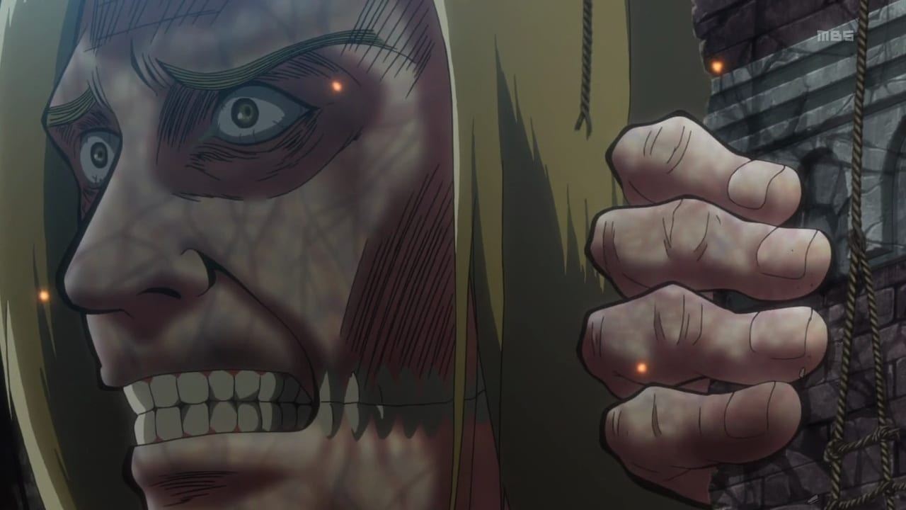 Attack on Titan Season 1 :Episode 5  First Battle: The Struggle for Trost, Part 1