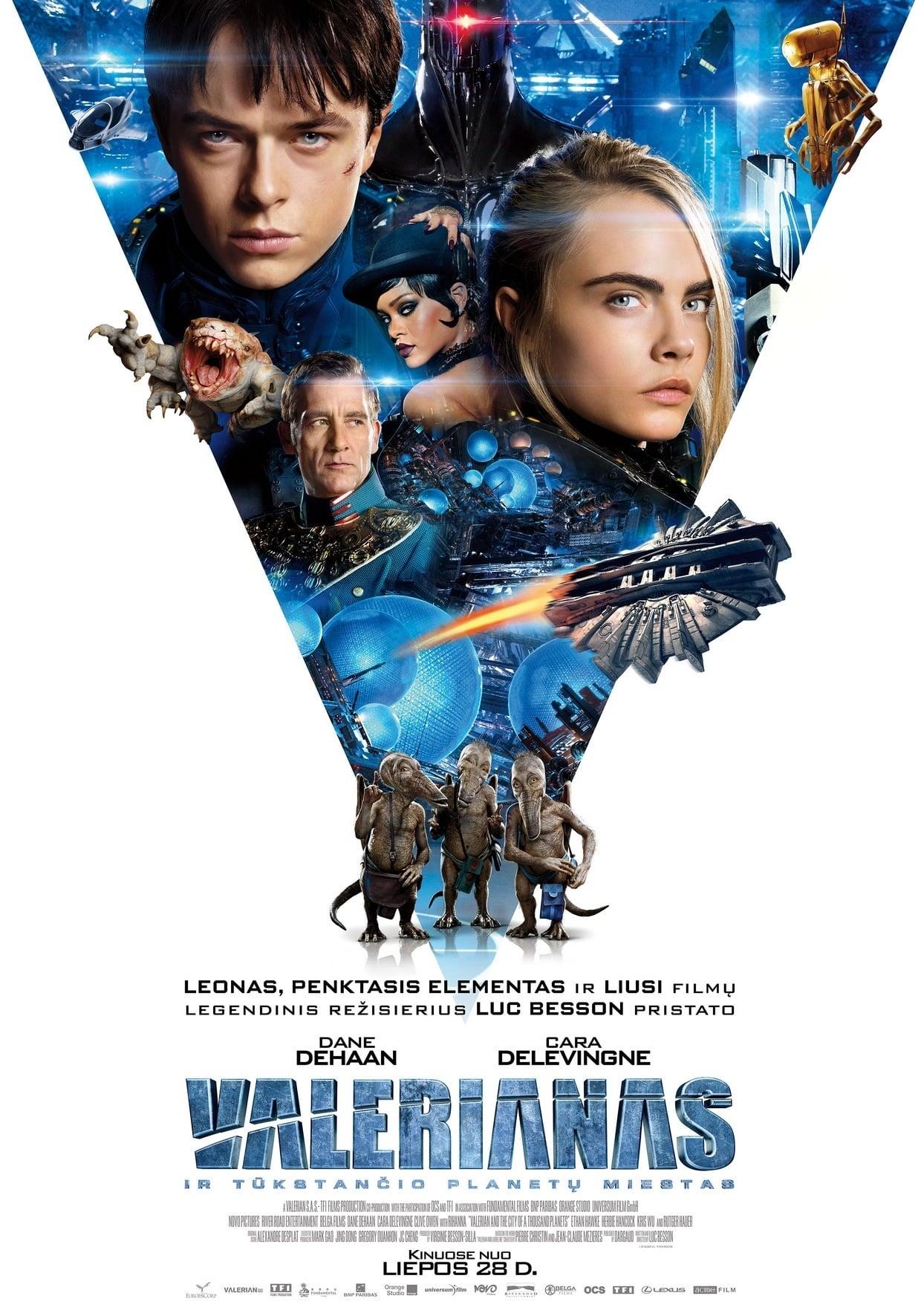 Valerianas ir Tūkstančio planetų miestas / Valerian and the City of a Thousand Planets (2017)
