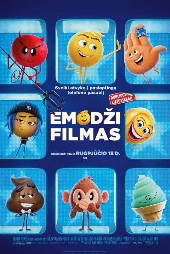 Emodži filmas / The Emoji Movie (2017) žiūrėti online