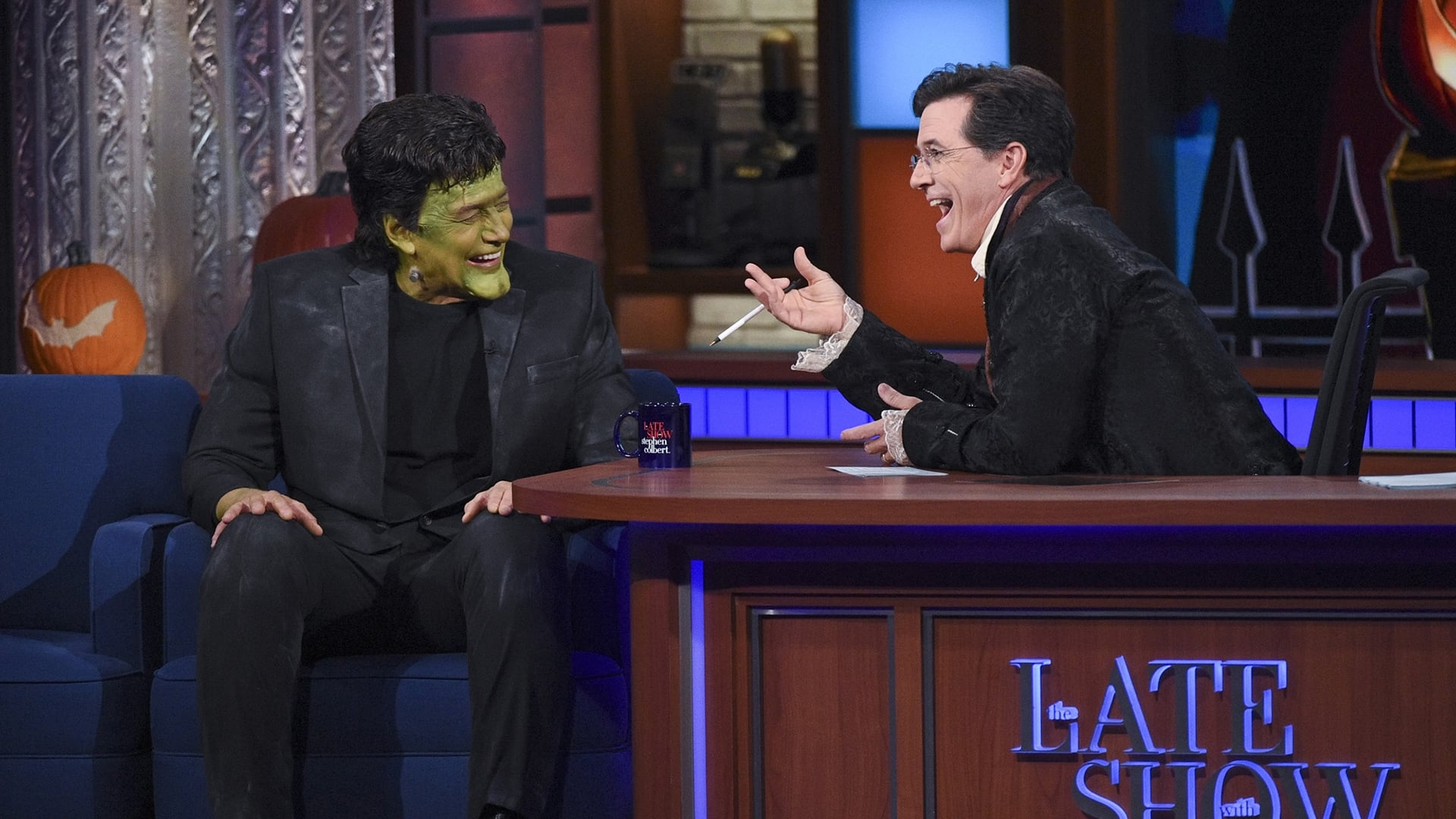 The Late Show with Stephen Colbert Season 1 :Episode 34  Charlie Rose, Stacy Schiff, Ghost