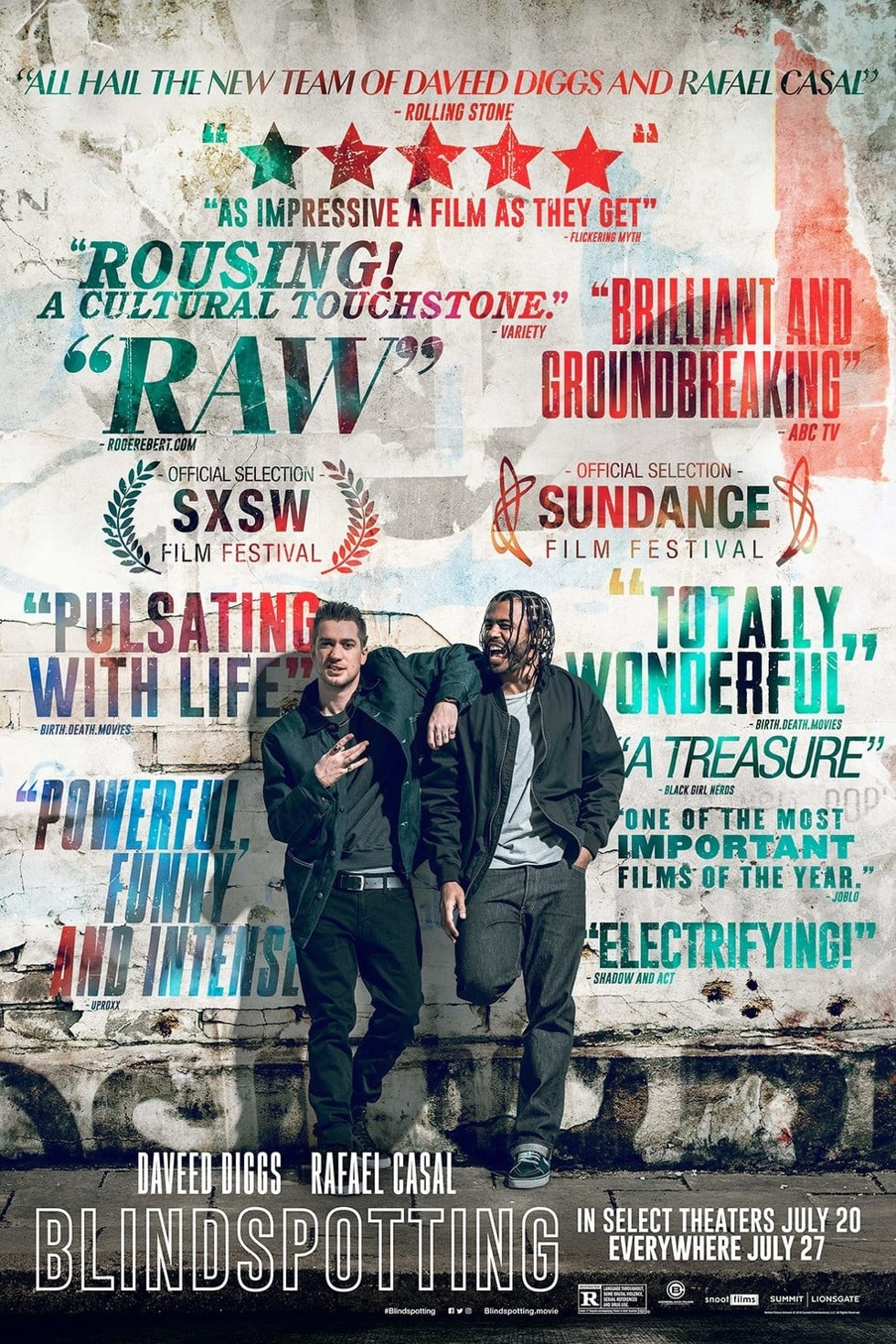 Poster and image movie Film Blindspotting - Blindspotting 2018