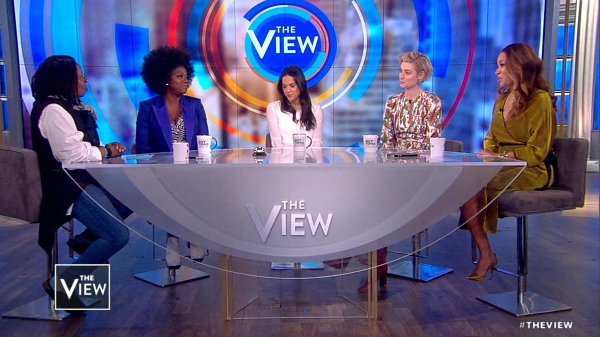 The View Season 22 :Episode 53  Viola Davis, Michelle Rodriguez, and Elizabeth Debicki