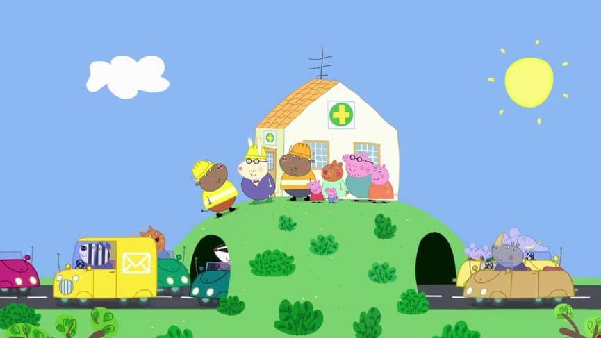 Peppa Pig Season 5 :Episode 44  Mr. Bull's New Road