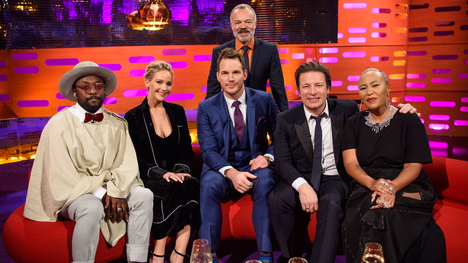The Graham Norton Show Season 20 :Episode 9  Jennifer Lawrence, Chris Pratt, Jamie Oliver, Will.i.am, Emeli Sande