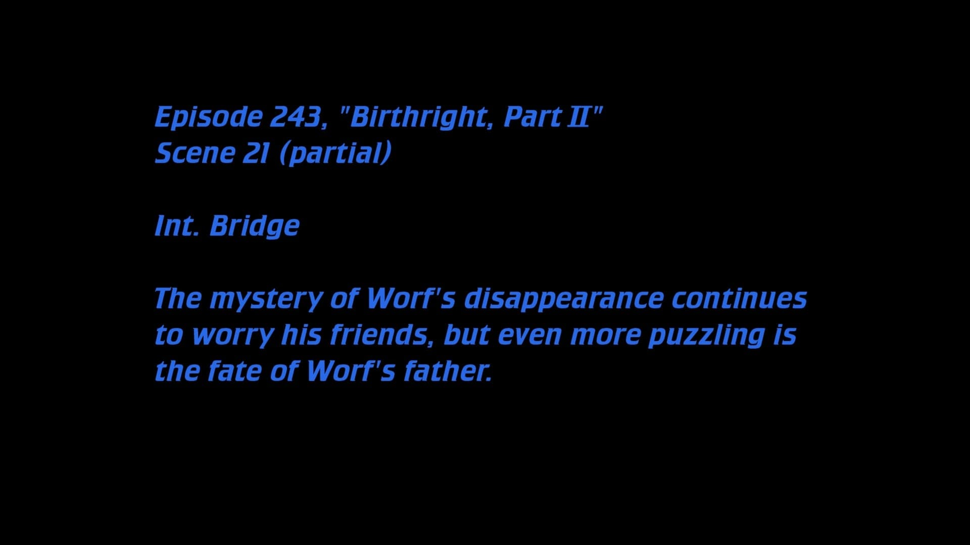 Deleted Scenes: S06E17 - Birthright, Part II-Azwaad Movie Database