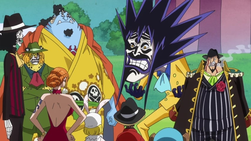 One Piece Season 19 :Episode 843  The Castle Collapses! The Straw Hat's Great Escape Begins!