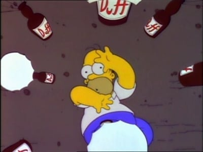 The Simpsons Season 4 :Episode 16  Duffless