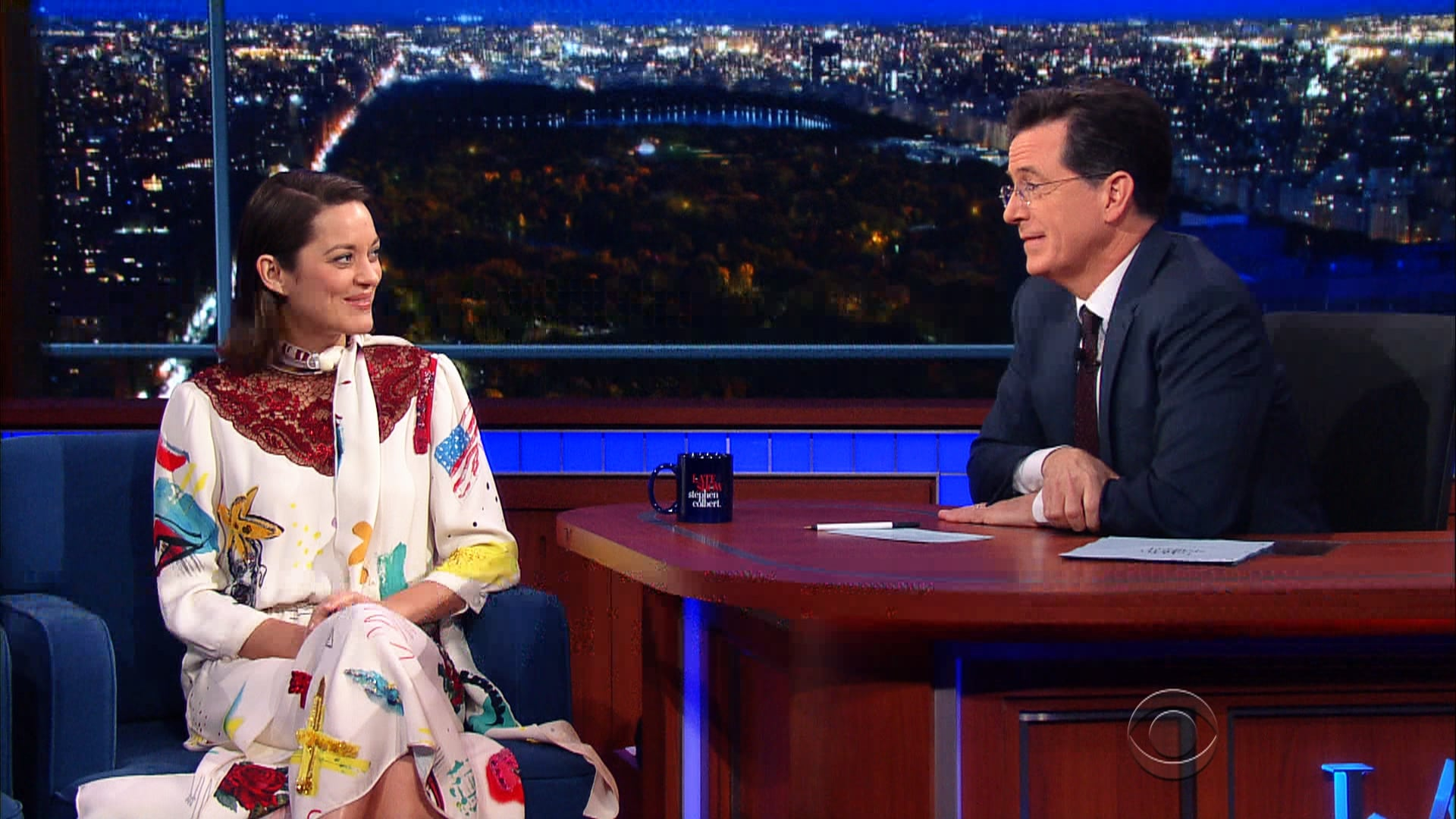 The Late Show with Stephen Colbert Season 1 :Episode 54  Marion Cotillard, George Saunders, Joanna Newsom