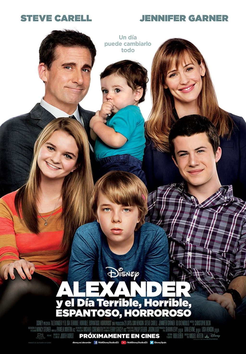 Póster Alexander y el día terrible, horrible, espantoso, horroroso