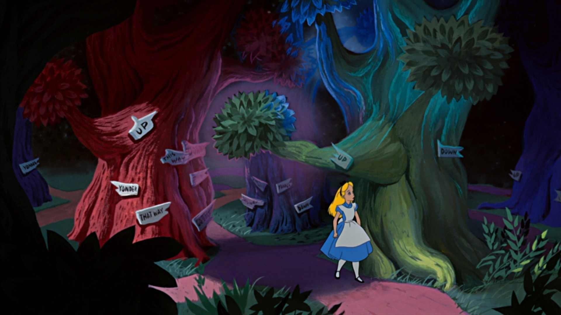 Filmszene aus Alice im Wunderland