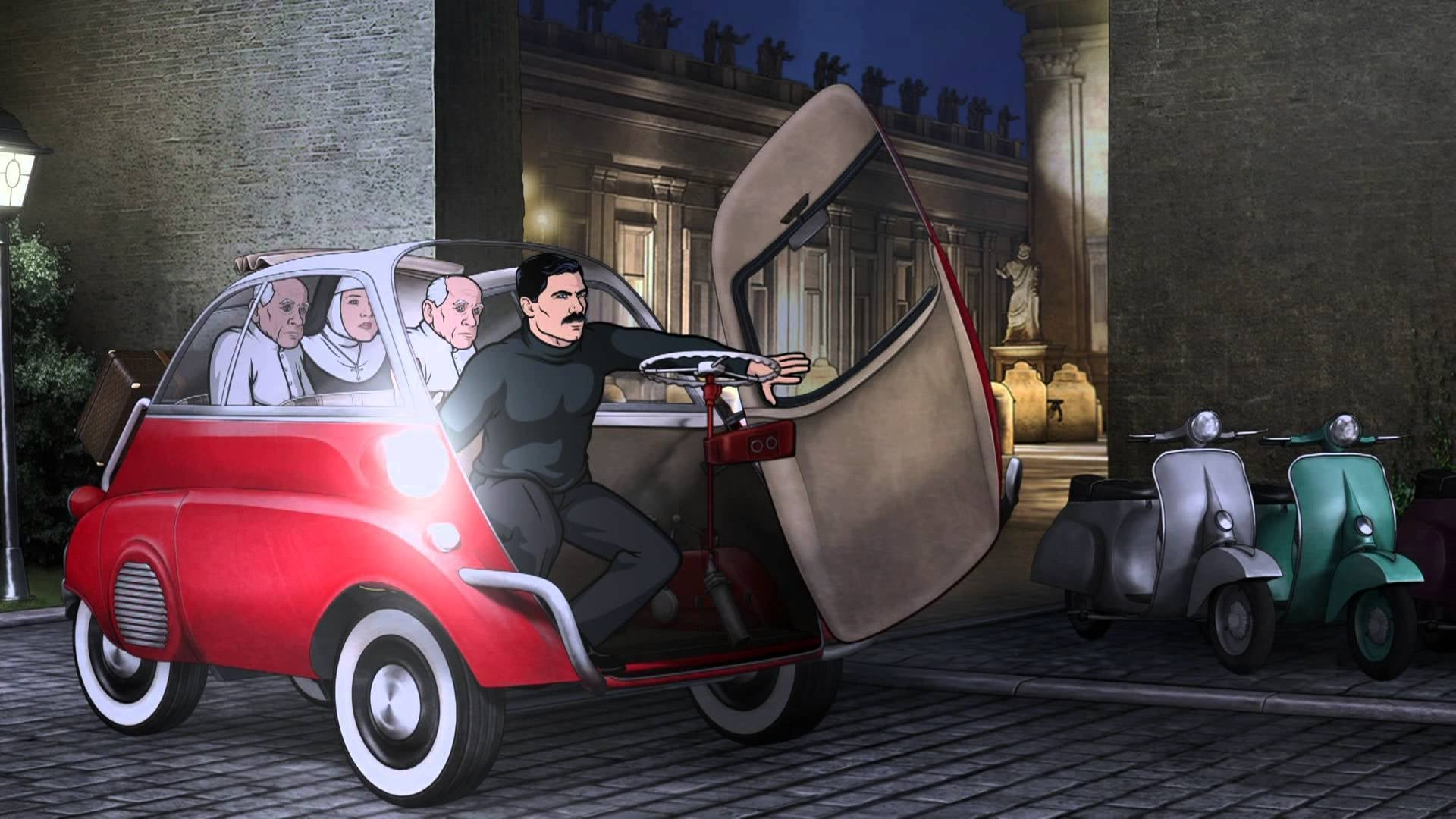 Archer Season 4 :Episode 11  The Papal Chase
