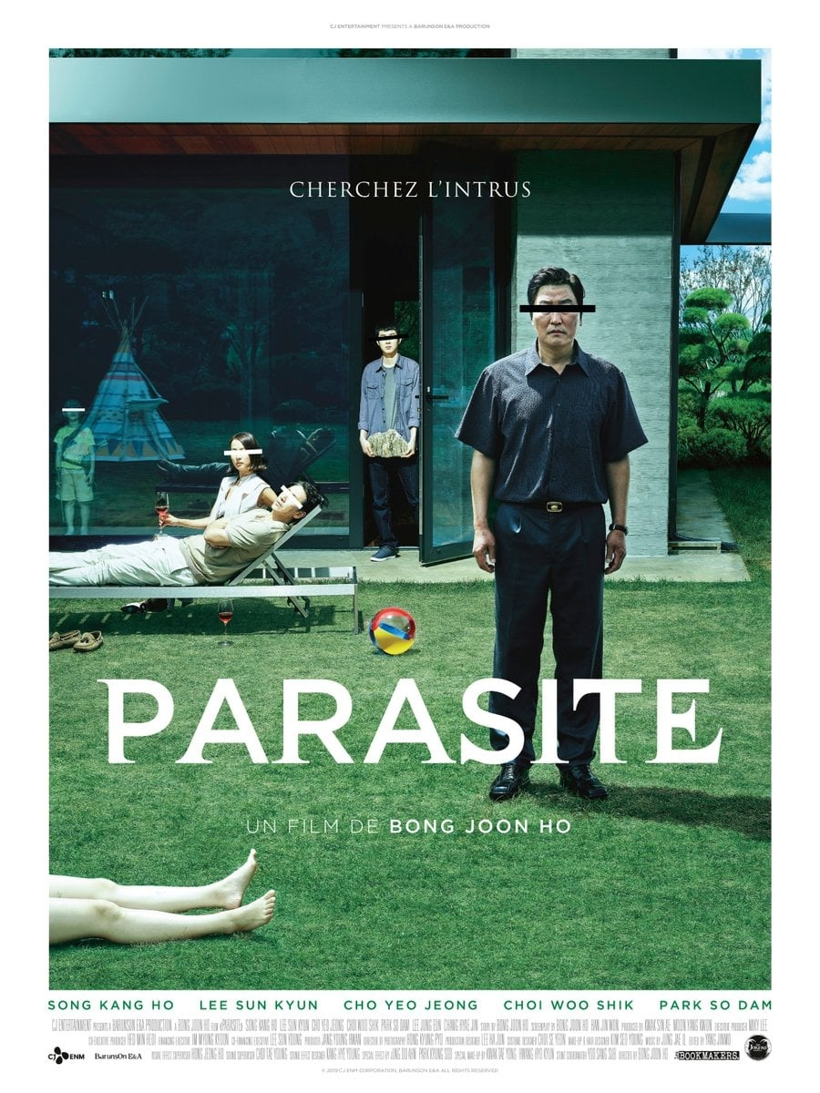 Poster and image movie Parasite