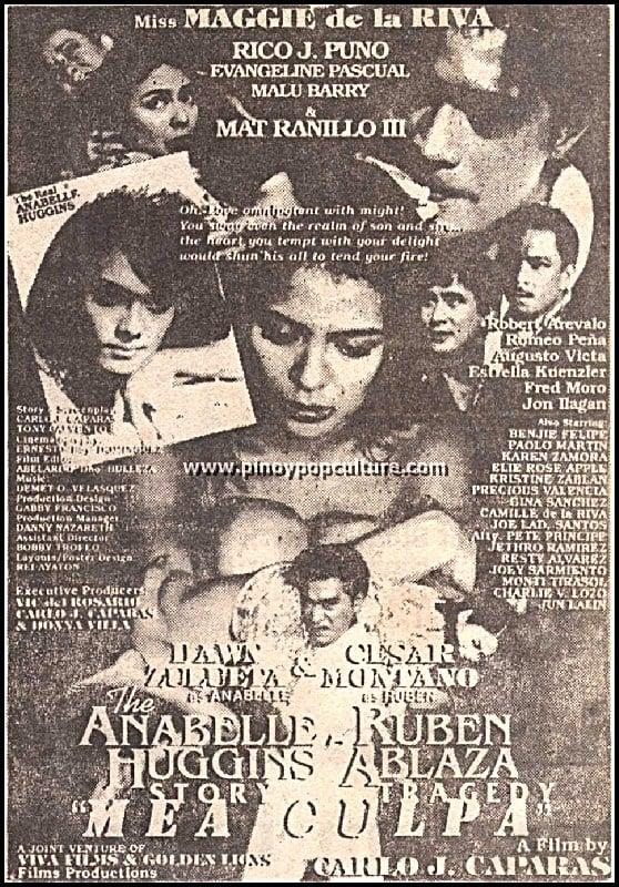 Anabelle Huggins Story: Ruben Ablaza Tragedy - Mea Culpa (1995)