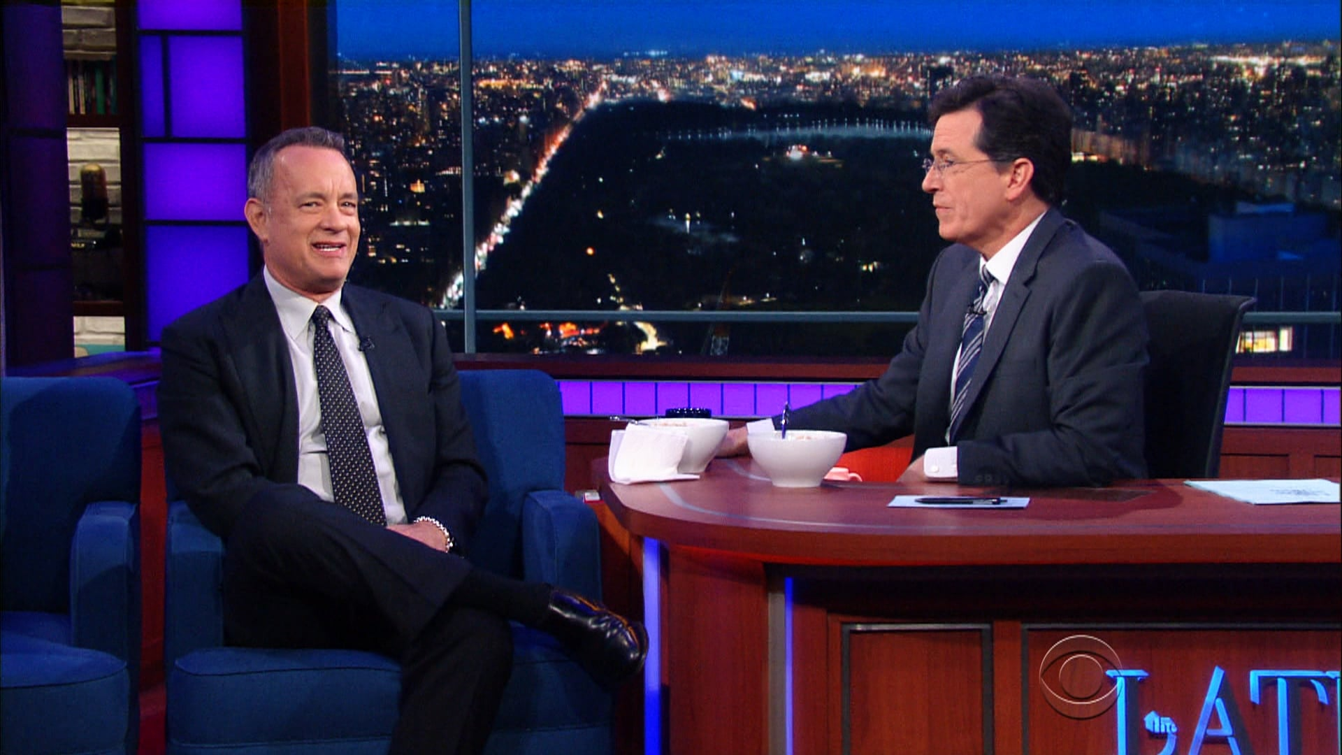 The Late Show with Stephen Colbert Season 1 :Episode 126  Tom Hanks, Leslie Odom Jr., The Strumbellas, Roy Haynes