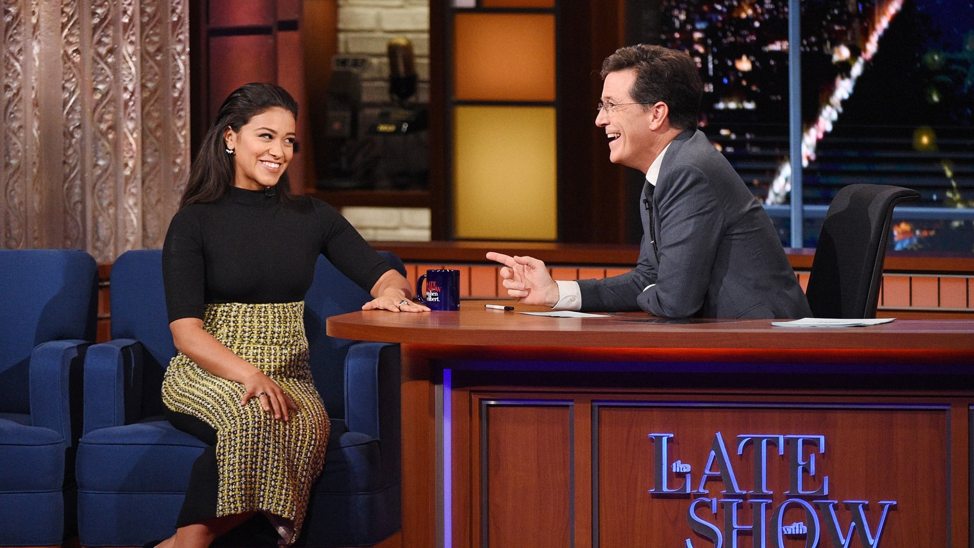 The Late Show with Stephen Colbert Season 1 :Episode 22  Gina Rodriguez, Ben Bernanke, Tame Impala