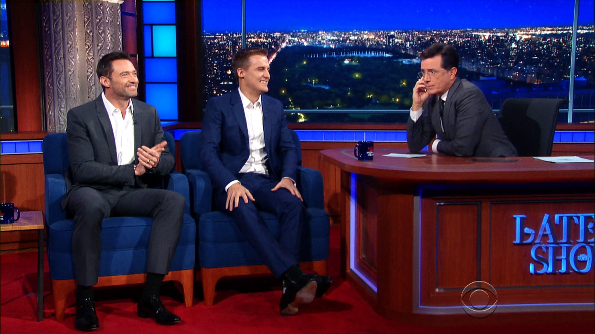 The Late Show with Stephen Colbert Season 1 :Episode 12  Hugh Jackman, Hugh Evans, Sen. Elizabeth Warren, Pearl Jam