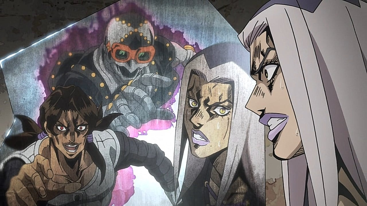 JoJo's Bizarre Adventure Season 4 :Episode 13  Man in the Mirror and Purple Haze