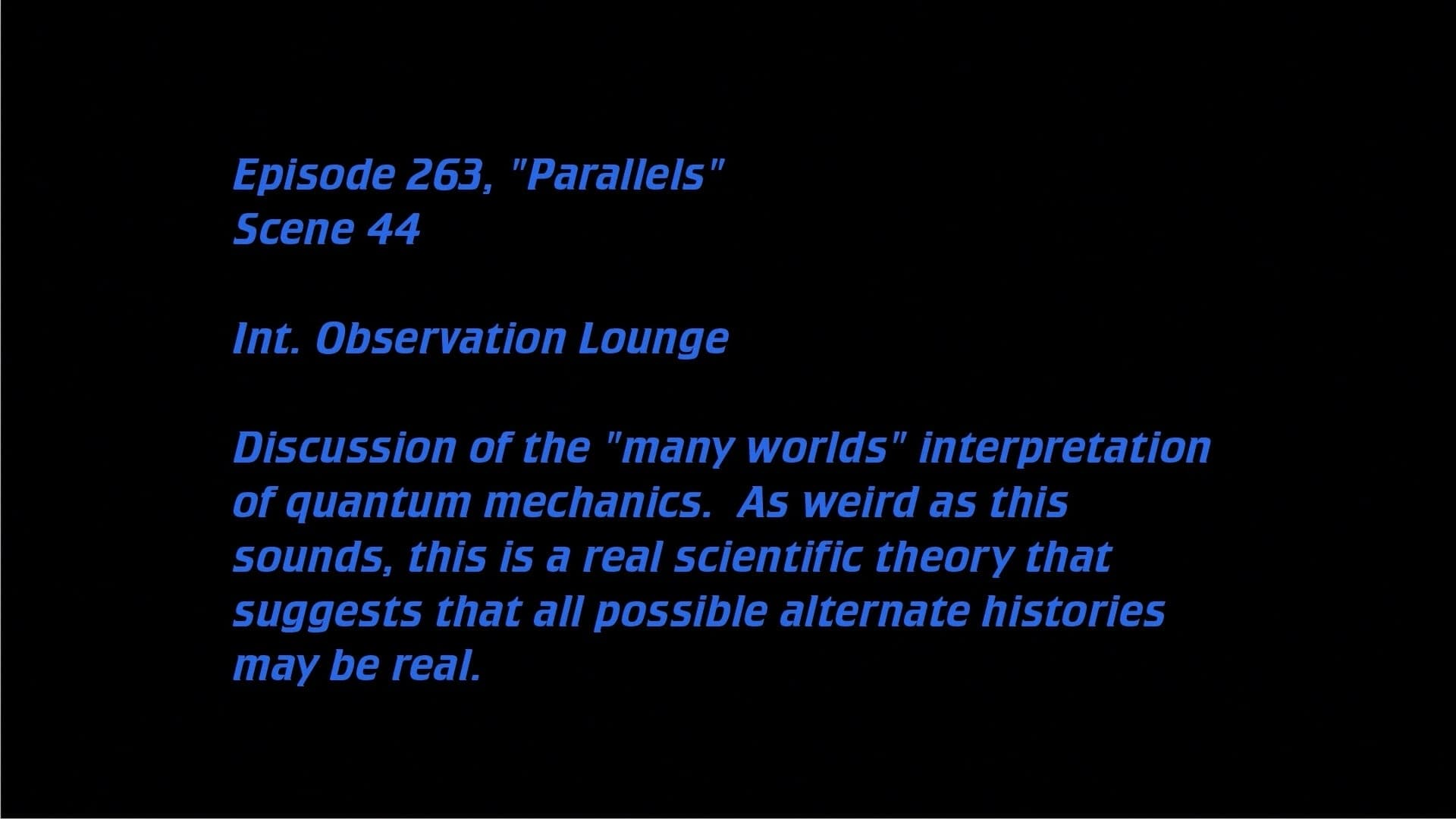 Deleted Scenes: S07E11 - Parallels-Azwaad Movie Database