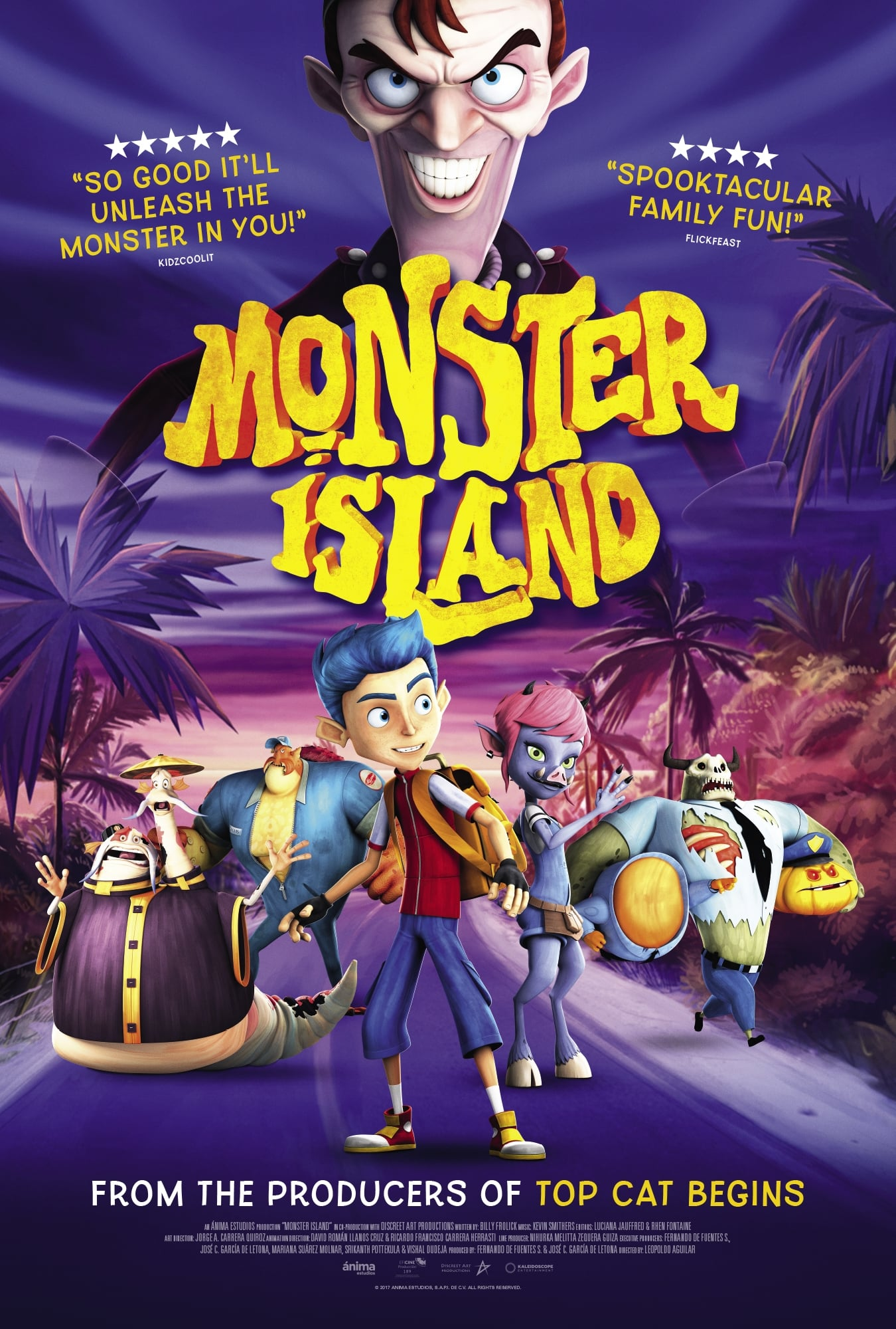 Póster La isla de los monstruos