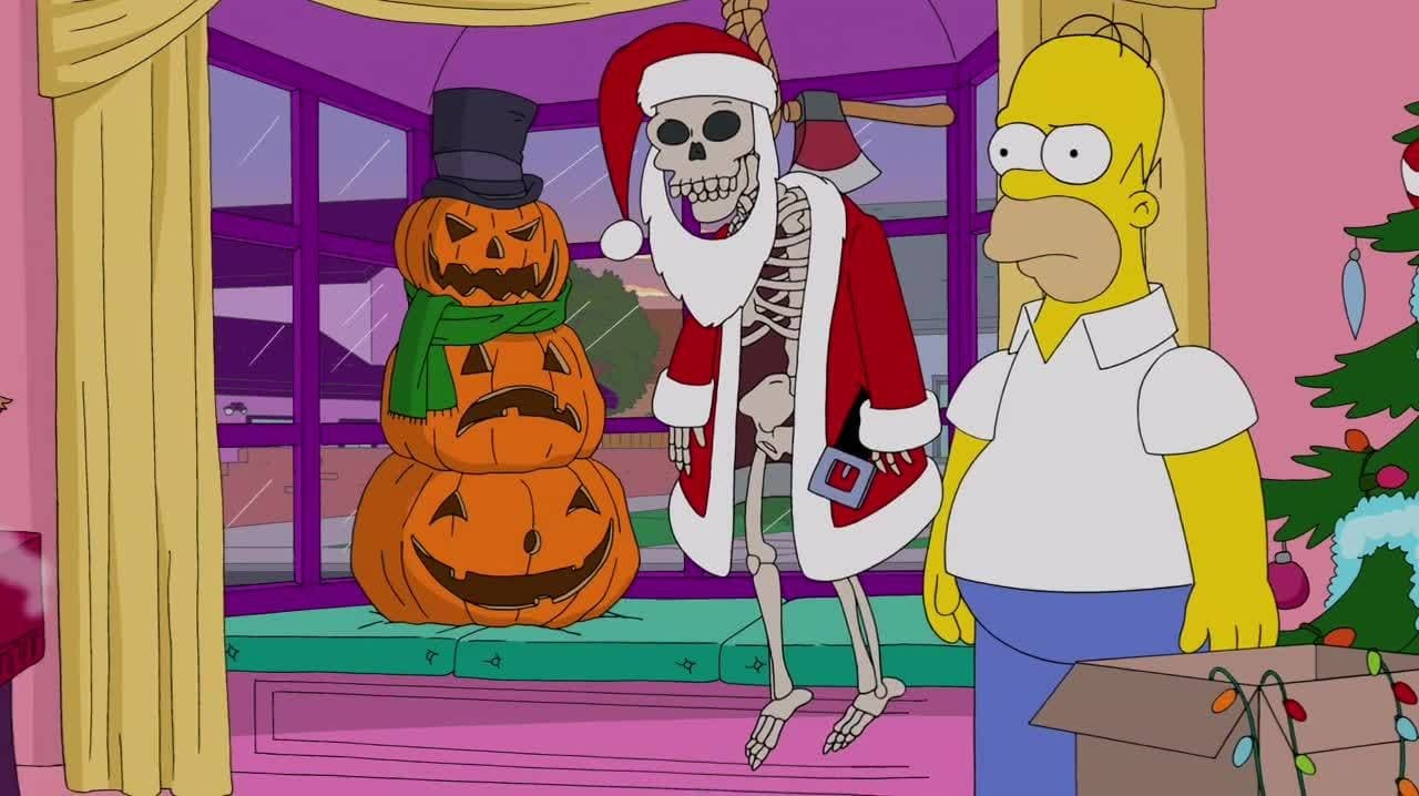The Simpsons Season 25 :Episode 8  White Christmas Blues