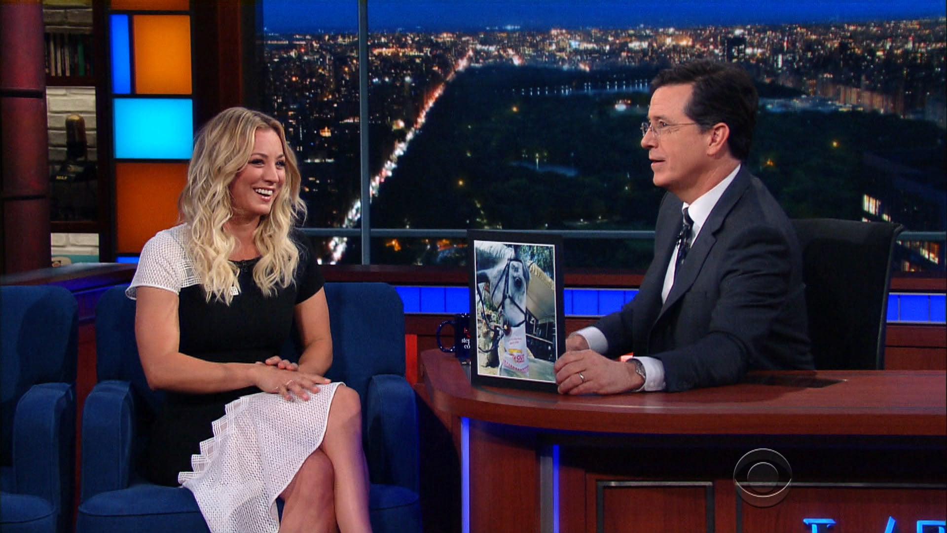 The Late Show with Stephen Colbert Season 1 :Episode 138  Kaley Cuoco, Dan Savage, The National