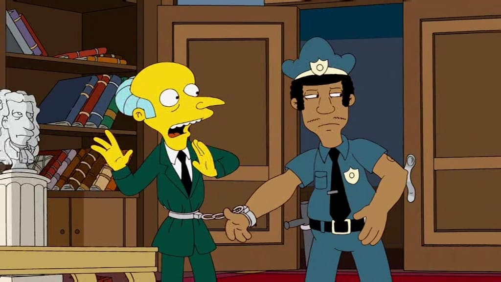 The Simpsons Season 21 :Episode 17  American History X-cellent
