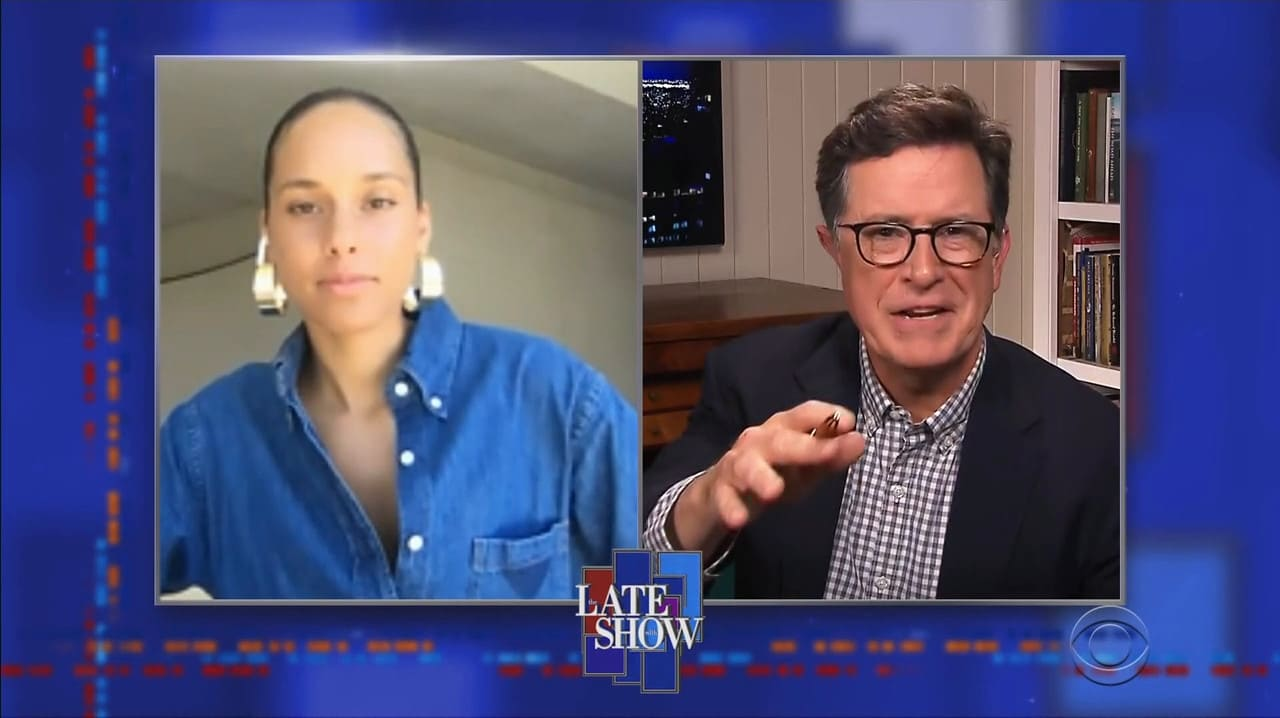 The Late Show with Stephen Colbert Season 5 :Episode 108  Alicia Keys