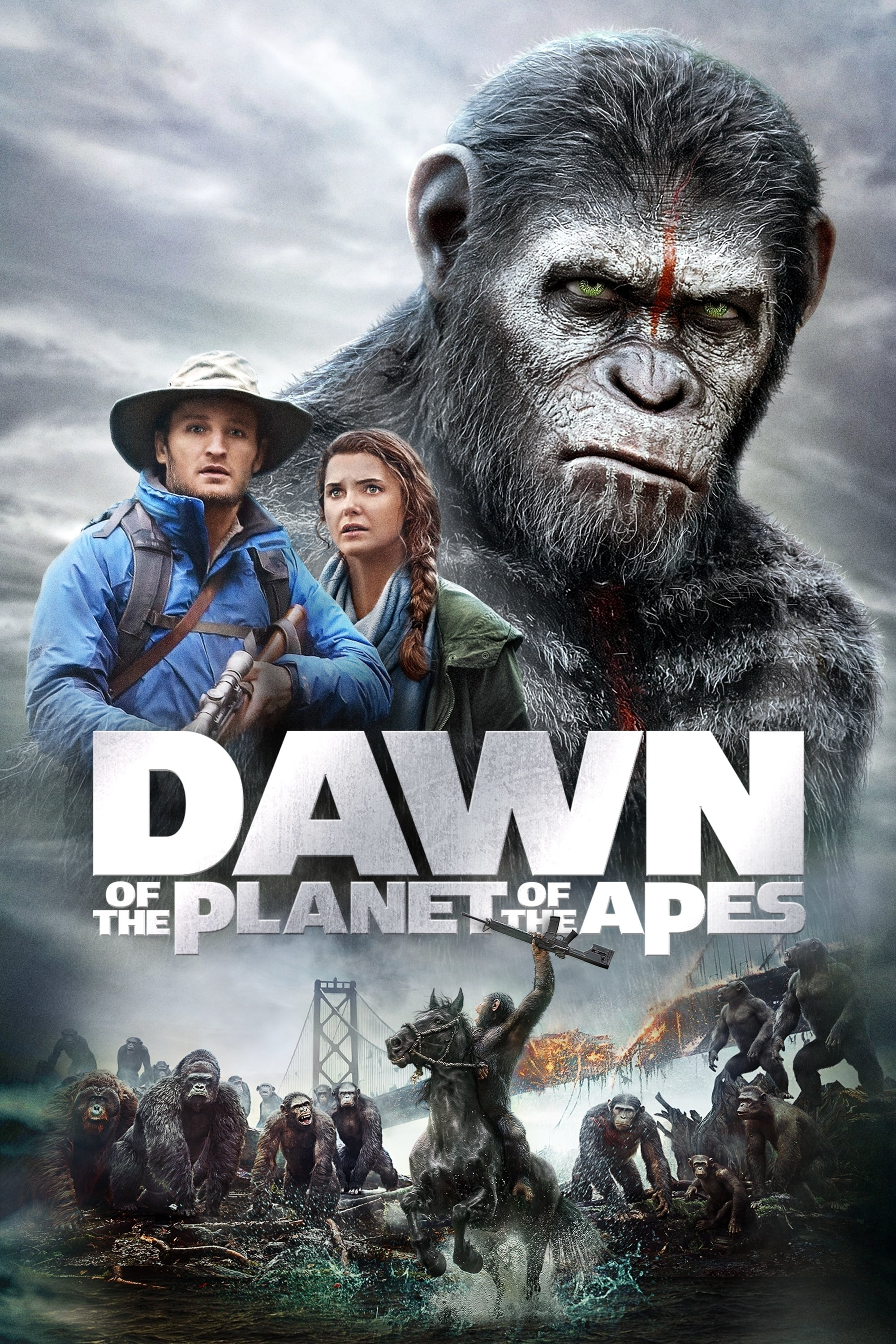 Dawn of the Planet of the Apes | 2014 | Hindi + English | 1080p | 720p | BluRay