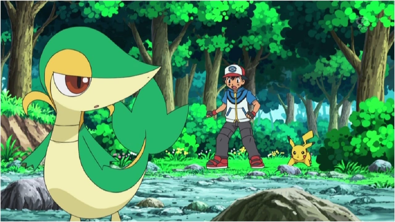 Pokémon Season 14 :Episode 7  Snivy Plays Hard to Catch!