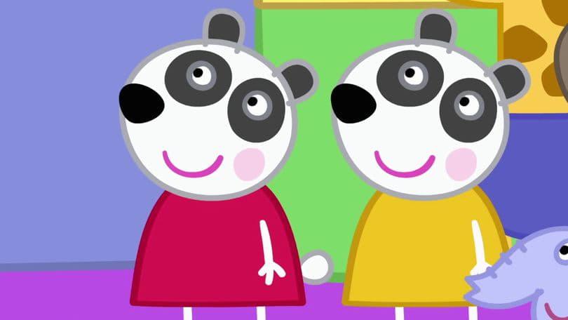 Peppa Pig Season 6 :Episode 1  The Panda Twins