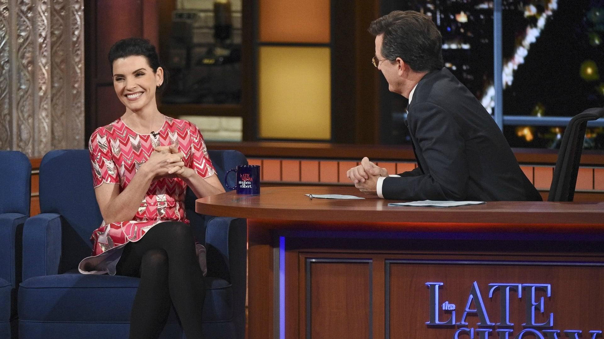 The Late Show with Stephen Colbert Season 1 :Episode 32  Julianna Margulies, Jonathan Franzen, Alabama Shakes