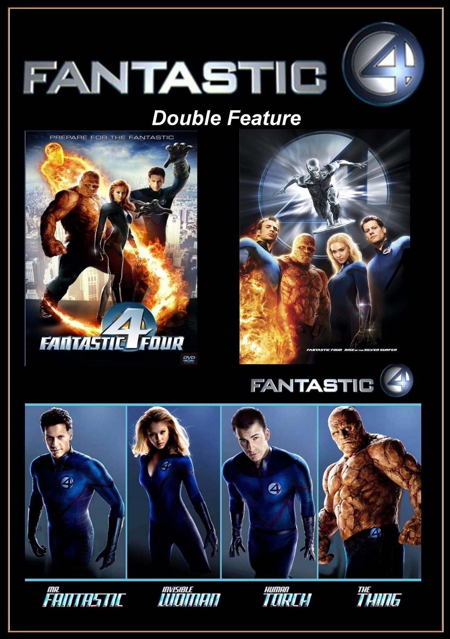 all movies from fantastic four collection saga are on