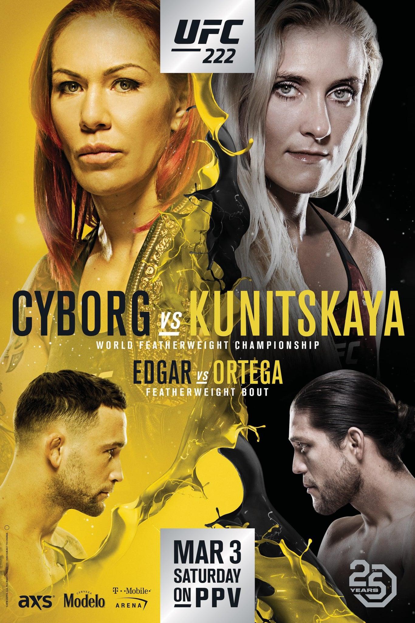 Ver UFC 222: Cyborg vs. Kunitskaya Online HD Español ()