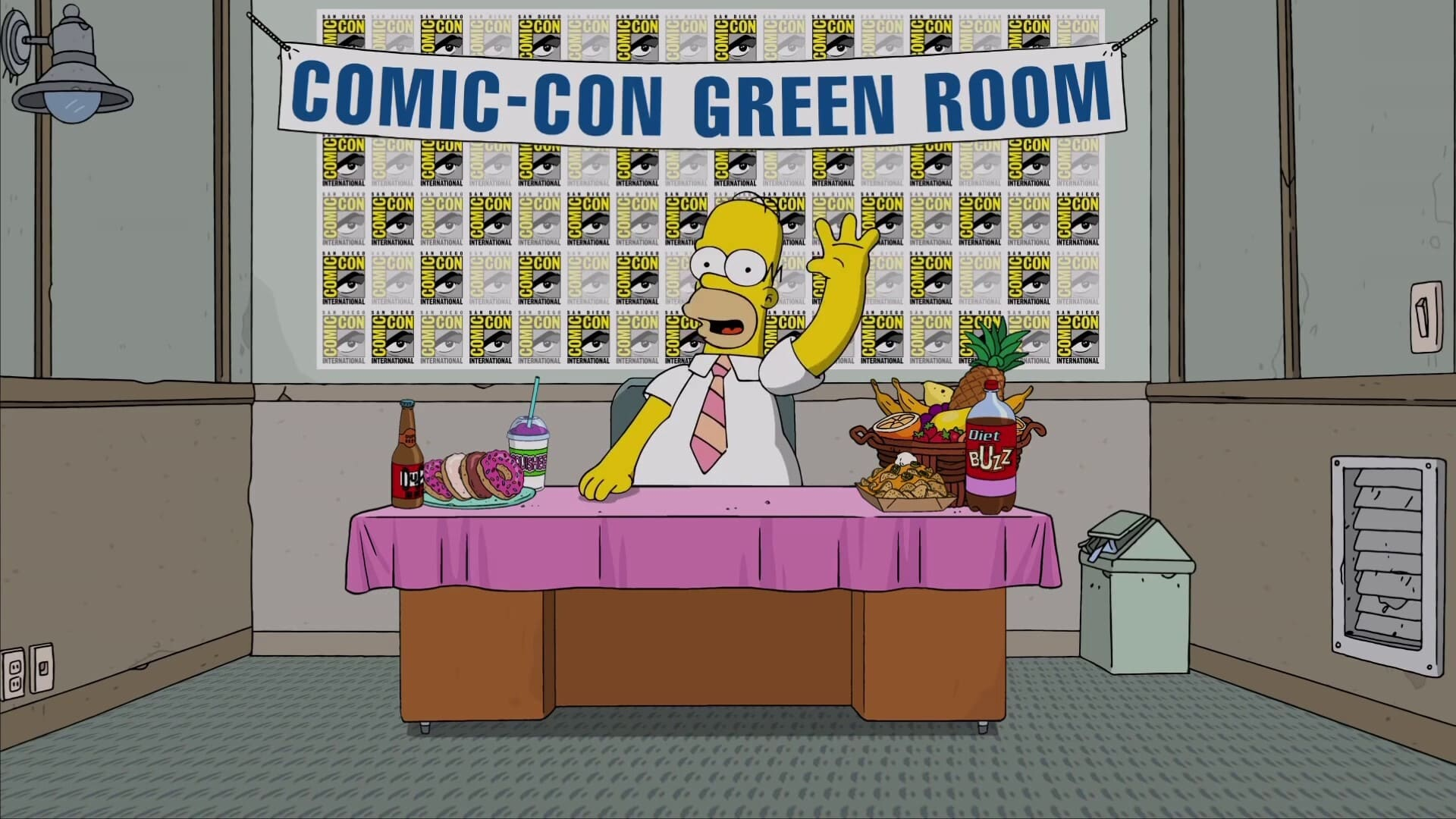 The Simpsons Season 0 :Episode 82  Homer from the Green Room at San Diego Comic-Con 2016
