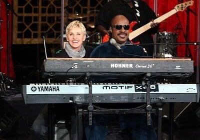 The Ellen DeGeneres Show Season 9 :Episode 56  Stevie Wonder, Kristin Chenoweth, Kym Douglas, Melanie Moore