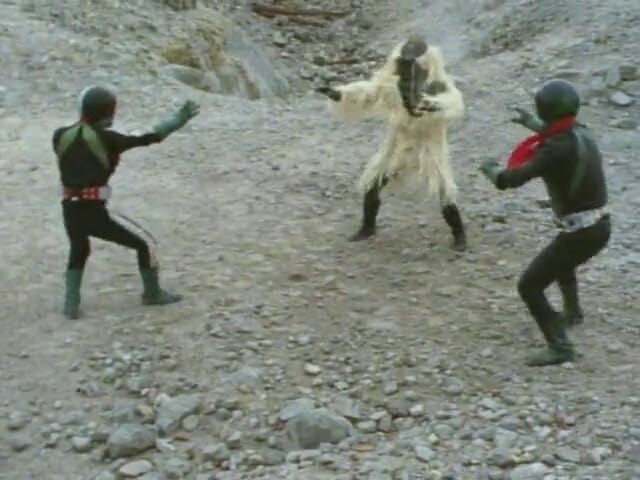Kamen Rider Season 1 :Episode 40  Deathmatch! Monster Snowman vs. Two Riders