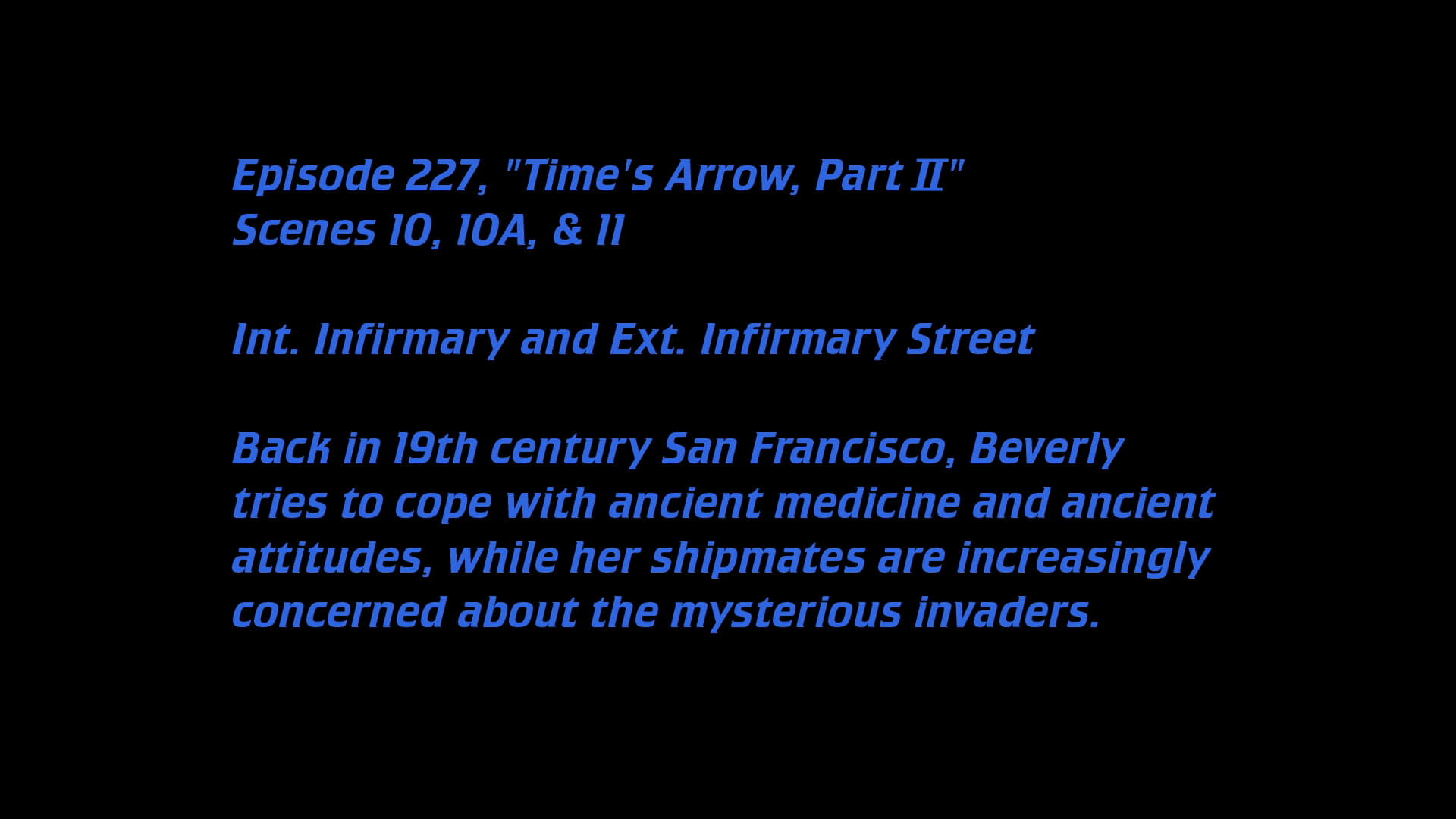 Deleted Scenes:S06E01 - Time's Arrow (2)-Azwaad Movie Database