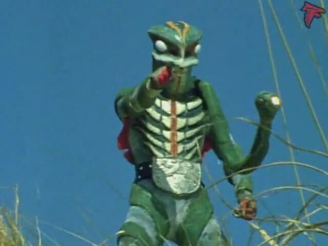 Kamen Rider Season 1 :Episode 54  Sea Serpent Man of the Phantom Village