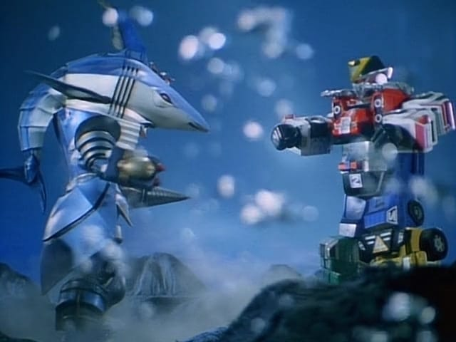 Super Sentai Season 20 :Episode 42  All Engines Stalling! Giant Robots in Peril!!
